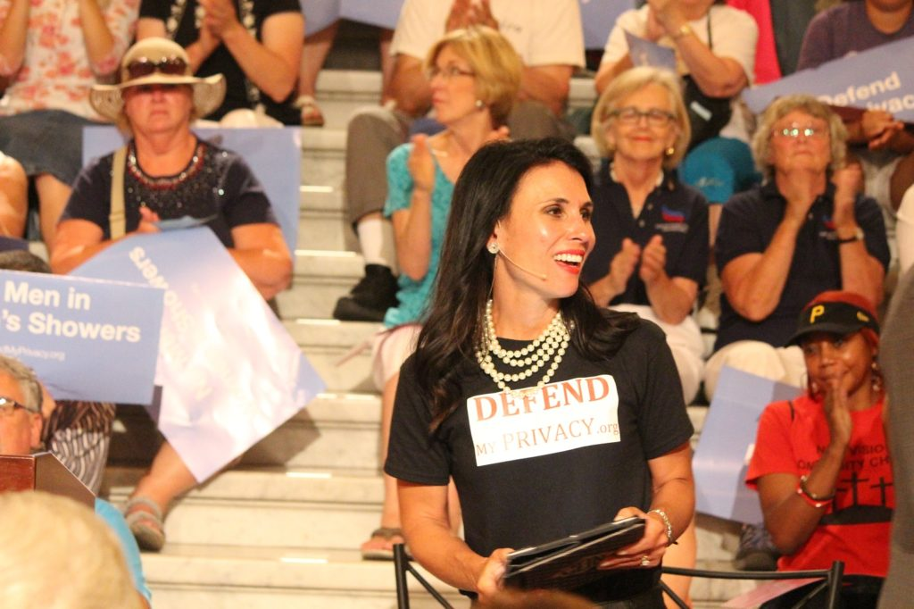 Carla at the Rally