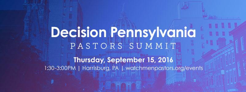 Decision Pennsylvania Pastors Summit