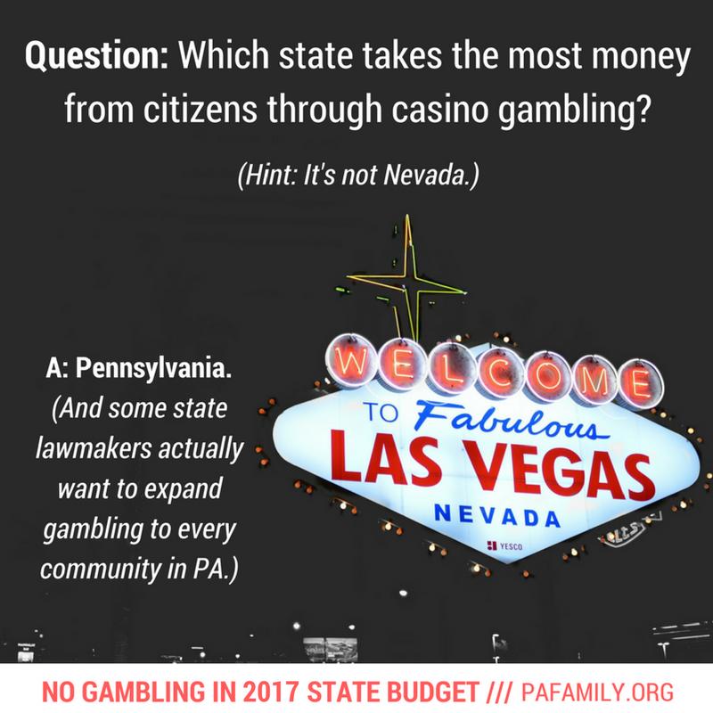 Pa no gambling list gambling and grief